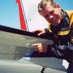 Bob Unser showing his Beechcraft B36TC Bonanza with Micro VGs on horizontal