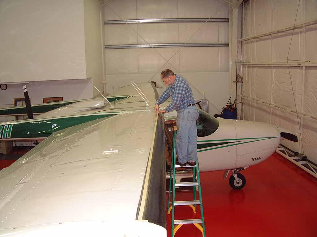 Cessna 337 Wing Install