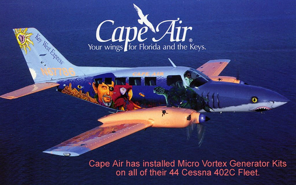 Cape Air's Cessna 402C with Micro VGs