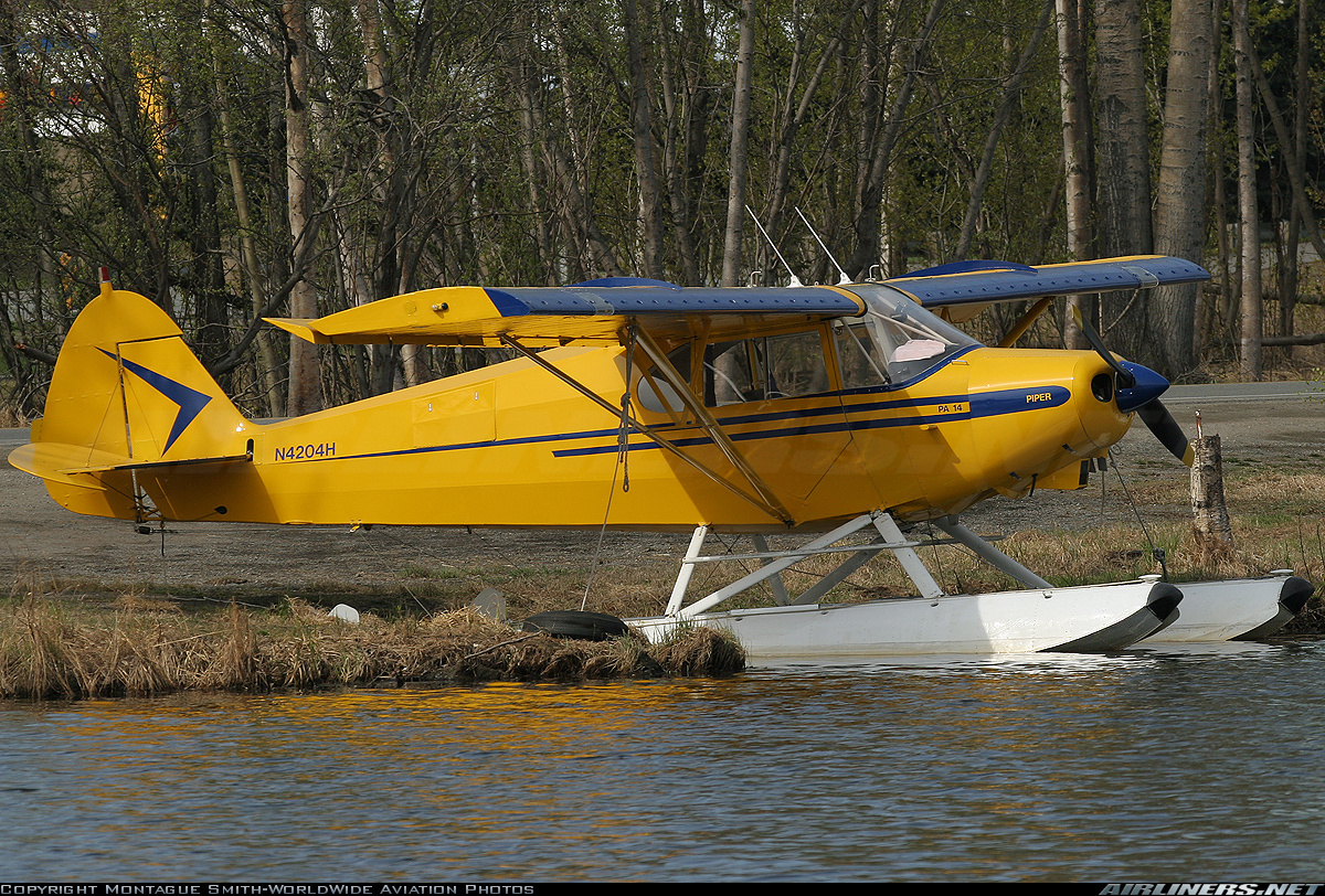 Piper PA-14 on Floats with VGs on Wing