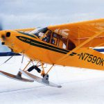 Piper PA-18 on Skis with Micro VGs