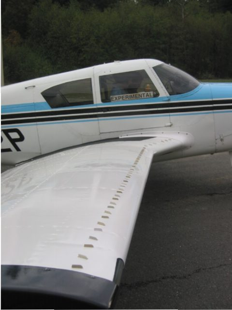 Piper PA-24 VGs on Wing