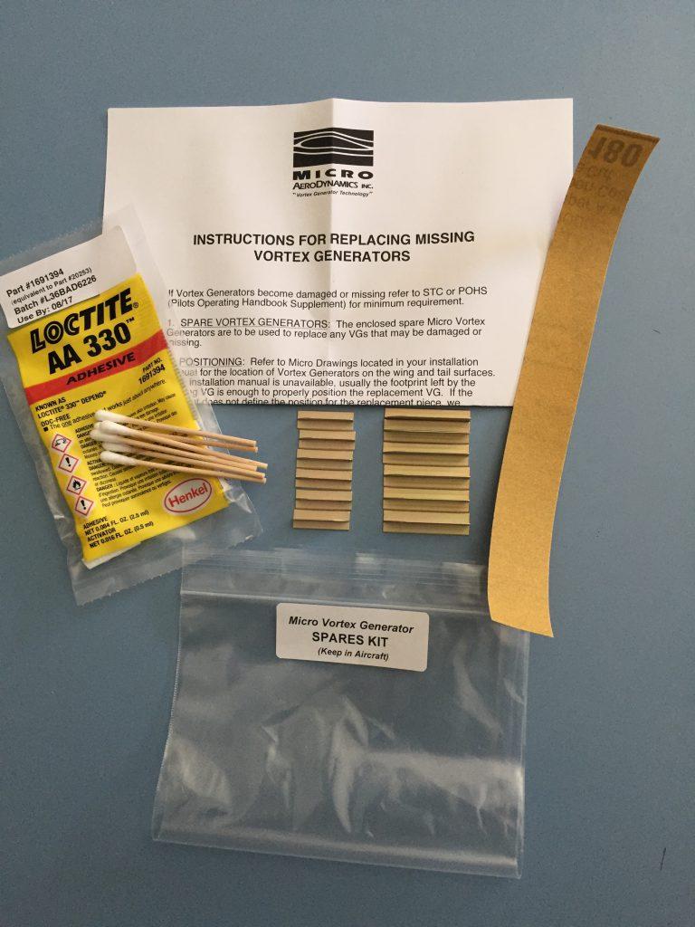 Micro Vortex Generator Spares Kit